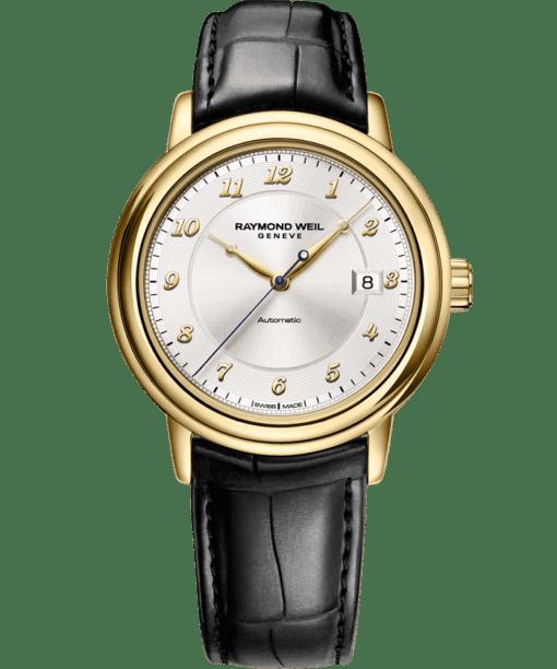 Maestro – Montre automatique en or jaune 18carats avec date – RAYMOND WEIL