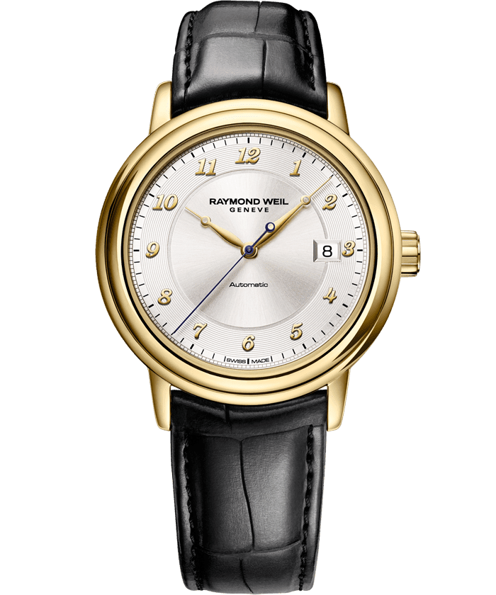 Maestro - 18 Carat Yellow Gold Automatic Date Watch - RAYMOND WEIL