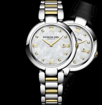 montre à bracelet interchangeable bicolore en acier inoxydable shine pour femme RAYMOND WEIL