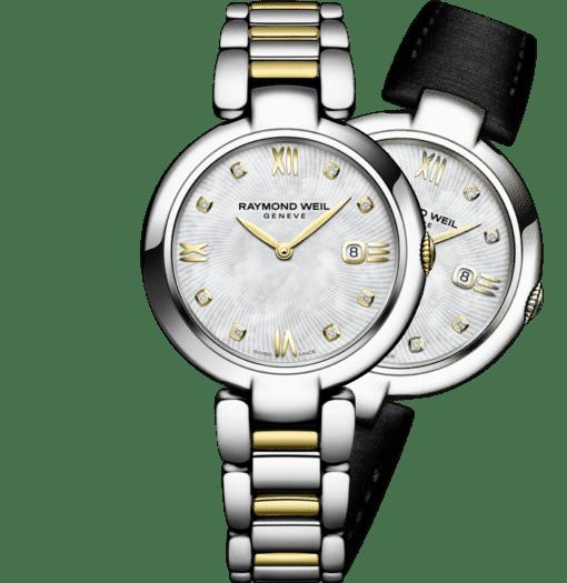 RAYMOND WEIL shine ladies two-tone stainless steel interchangeable bracelet watch