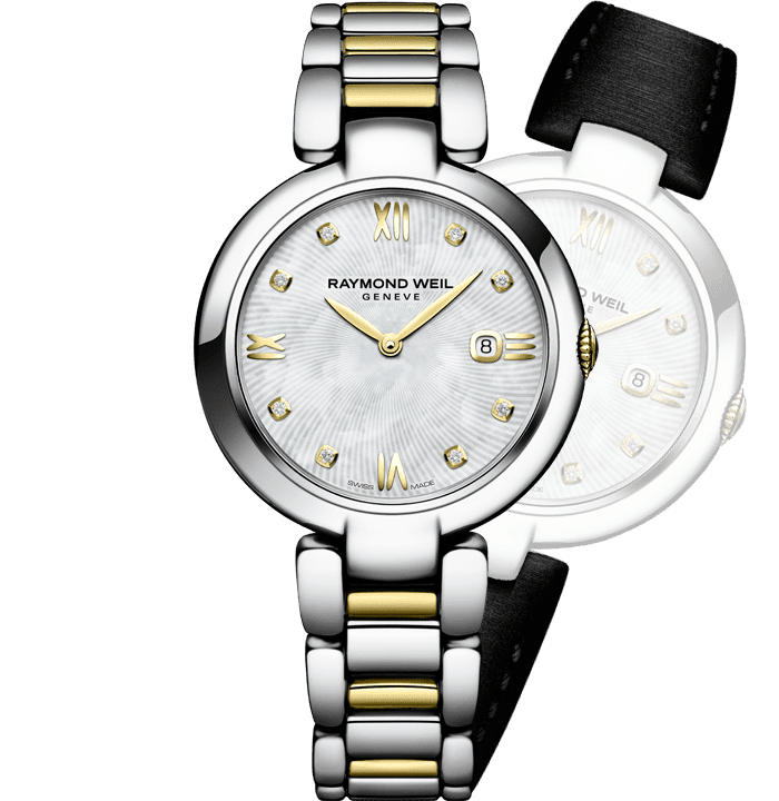 RAYMOND WEIL shine ladies two-tone stainless steel interchangeable bracelet watch