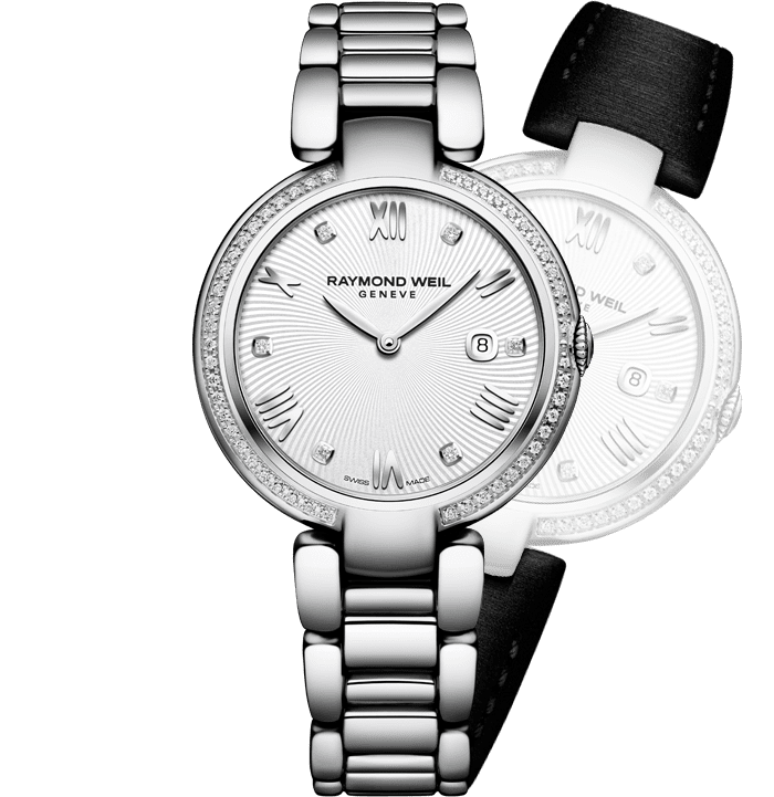 df7057608bbd RAYMOND WEIL shine ladies full-diamond bezel steel quartz watch