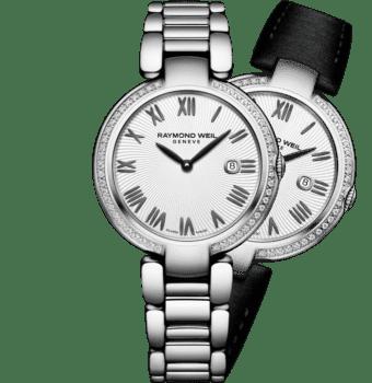 RAYMOND WEIL shine ladies silver diamond quartz bracelet watch