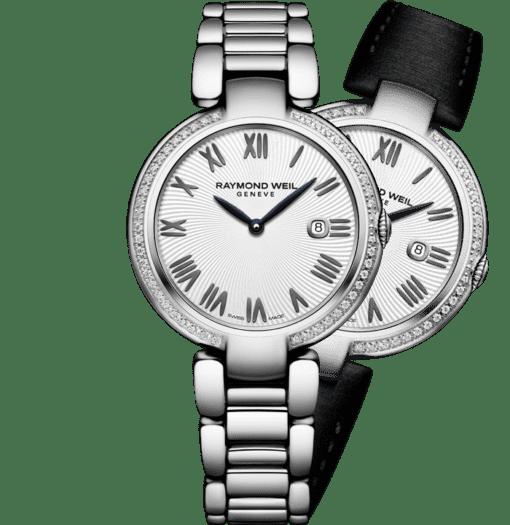 montre-bracelet à quartz en argent et diamants shine pour femme RAYMOND WEIL