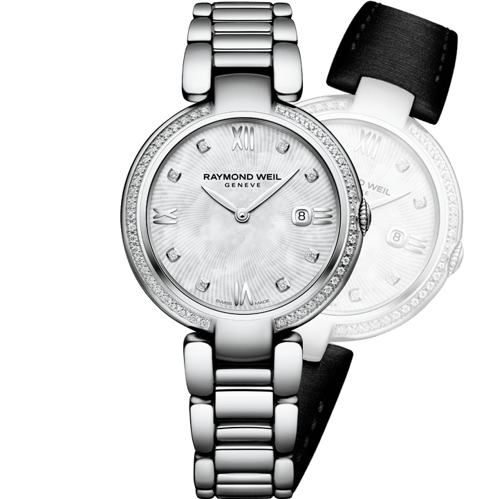 RAYMOND WEIL shine ladies full-diamond bezel steel quartz watch