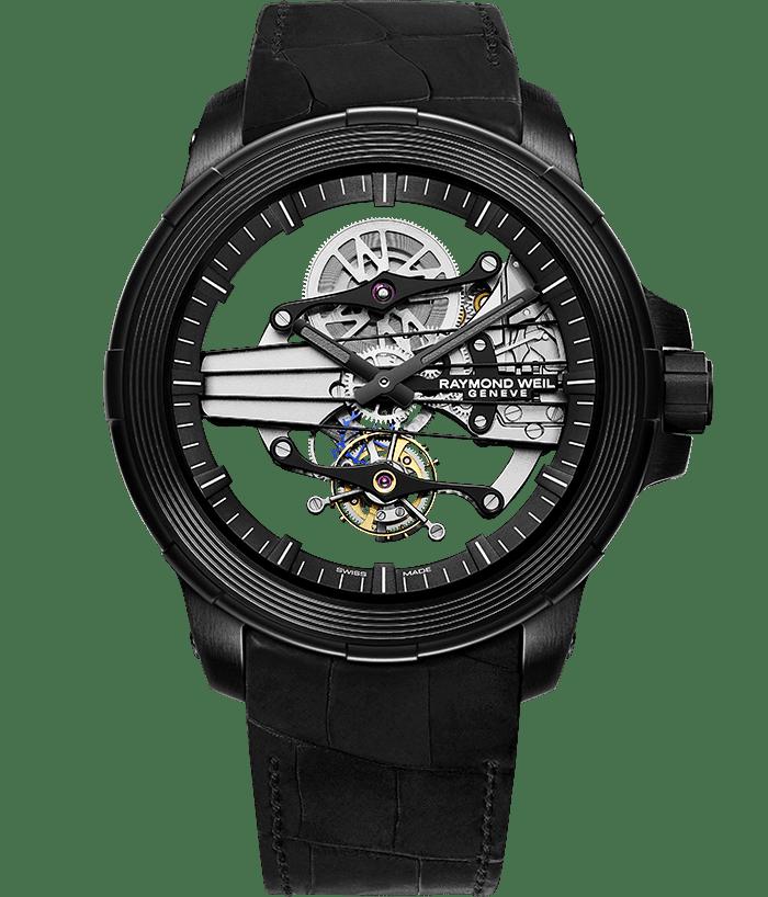 Nabucco - Tourbillon Skeleton Black Watch - RAYMOND WEIL