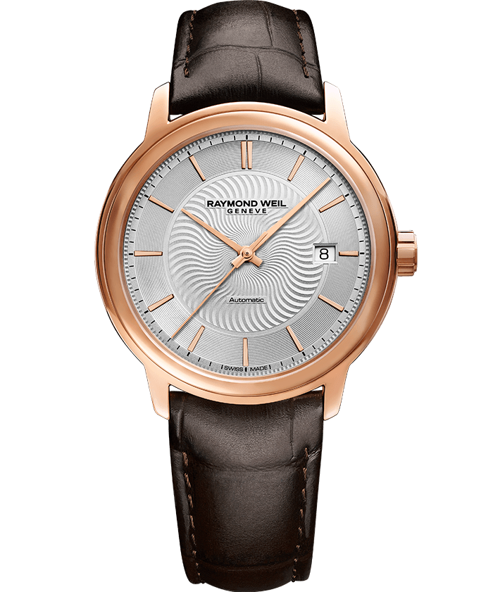 RAYMOND WEIL maestro rose gold watch 2237