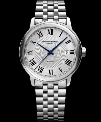 Montre automatique RAYMOND WEIL Maestro2237 classique pour homme avec bracelet argenté et date