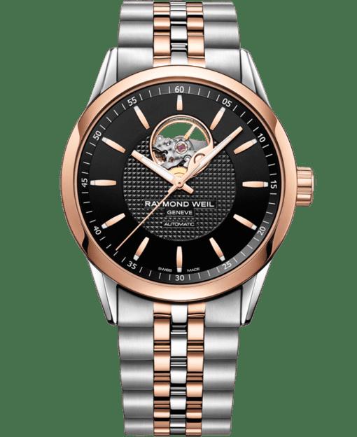 Freelancer - 2710 Open Aperture Rose Gold Watch - RAYMOND WEIL