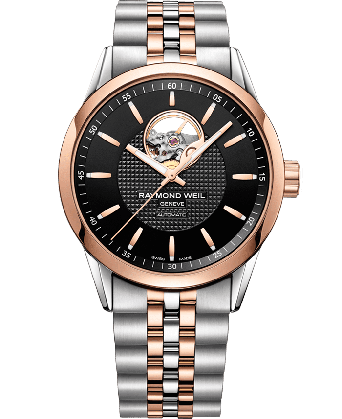 Freelancer - 2710 Open Aperture Rose Gold Watch - RAYMOND WEIL