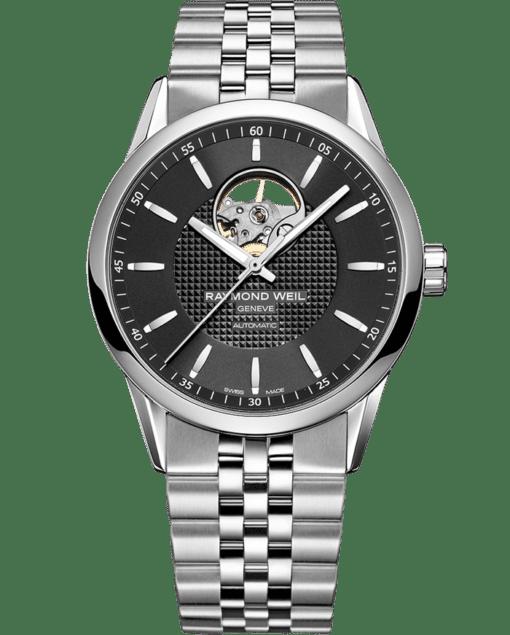 فريلانسر - 2710 ساعة من الفضة مزودة بفتحة دائرية مكشوفة - ريموند ويل