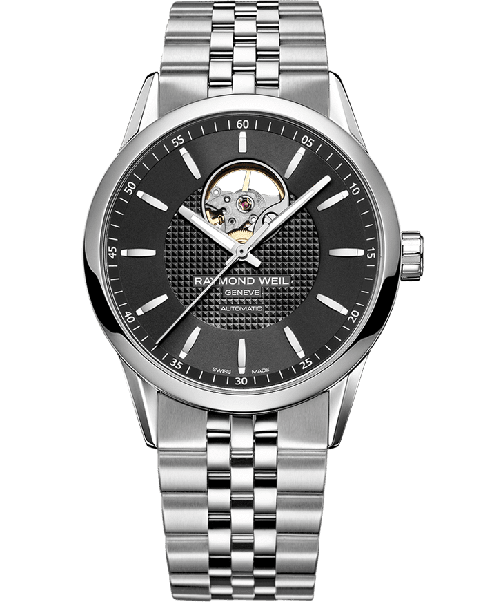 Freelancer - 2710 Silver Open Aperture Watch - RAYMOND WEIL