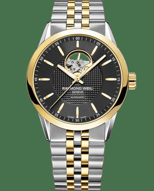 Freelancer - 2710 Open-Aperture Yellow Gold Watch - RAYMOND WEIL
