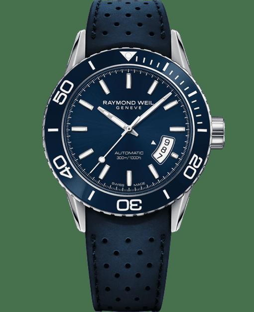 自由骑士系列 - Realteam 蓝色潜水自动腕表 - RAYMOND WEIL