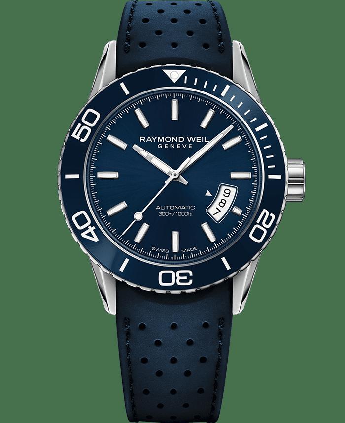 فريلانسر - ساعة الغواص الأتوماتيكية باللون الأزرق ريل تيم - ريموند ويل