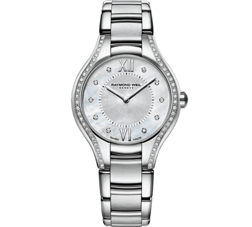 RAYMOND WEIL Noemia ladies in 27mm 62 diamond quartz mother-of-pearl watch