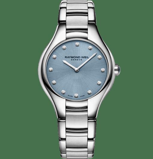 Montre RAYMOND WEIL Noemia 5132-st-20081 avec cadran bleu et diamants