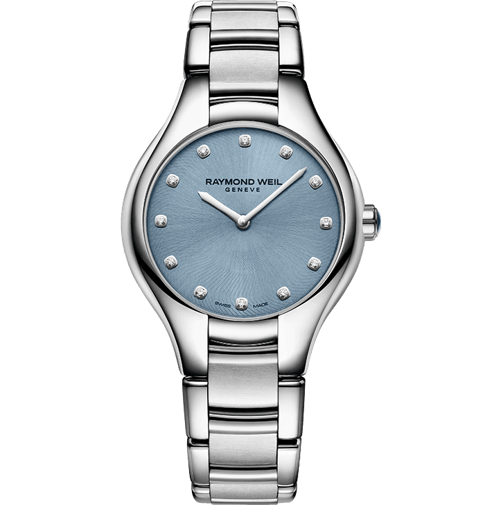 RAYMOND WEIL Noemi 5132-st-20081 blue dial diamond watch