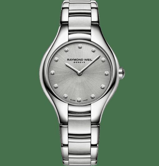 RAYMOND WEIL Noemi 5132-st-20081 grey dial diamond watch