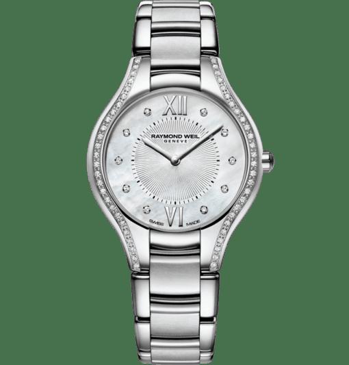 RAYMOND WEIL 娜美亚女士系列 62 钻珍珠贝母石英腕表