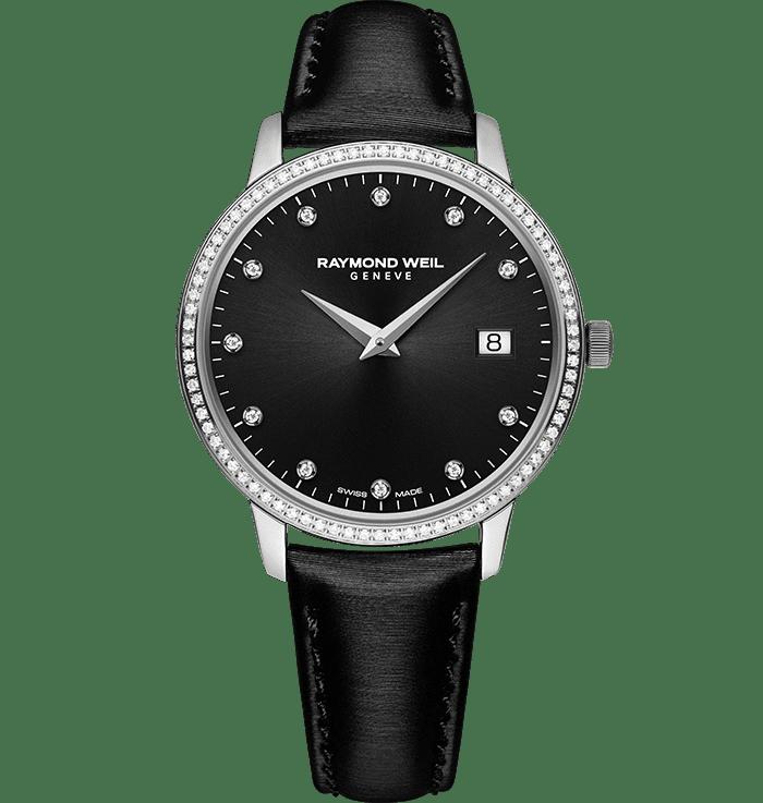 ساعة توكاتا نسائية بحركة كوارتز مع 91 ماسة من ريموند ويل