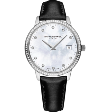 RAYMOND WEIL toccata ladies white mother-of-pearl quartz steel watch