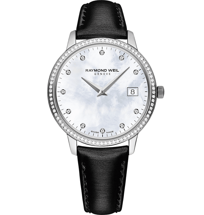 RAYMOND WEIL toccata ladies white mother-of-pearl quartz steel watch