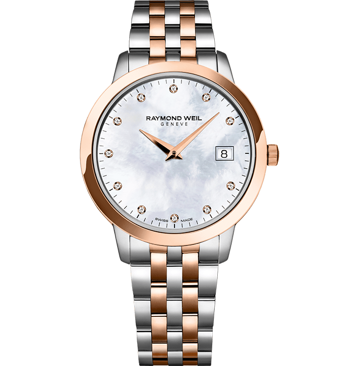 RAYMOND WEIL toccata ladies in 34mm rose gold 11 diamond quartz watch