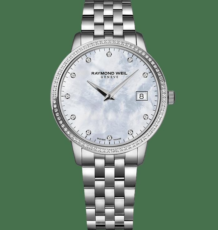 RAYMOND WEIL toccata ladies 91 diamond quartz steel watch