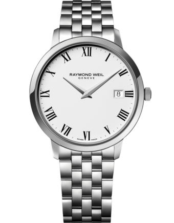 RAYMOND WEIL toccata men's classic steel white dial quartz watch
