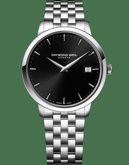 ساعة عرض اليوم توكاتا بحركة كوارتز بمينا من اللون الأسود معدني للرجال من ريموند ويل