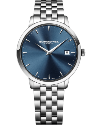 RAYMOND WEIL toccata men's classic steel blue dial quartz date watch
