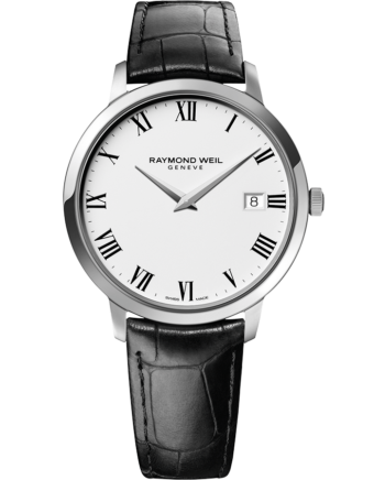 RAYMOND WEIL toccata men's classic steel white dial quartz date watch
