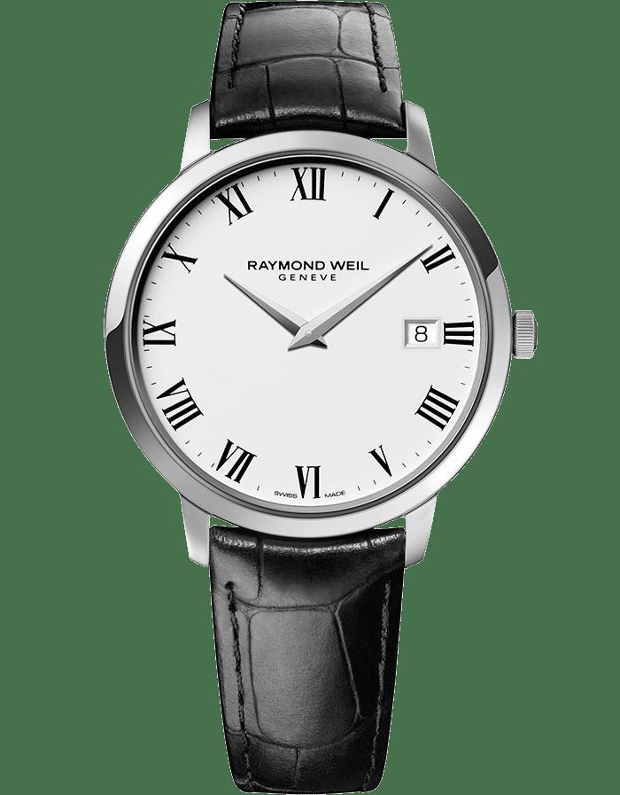 RAYMOND WEIL toccata men's classic steel white dial quartz date watch