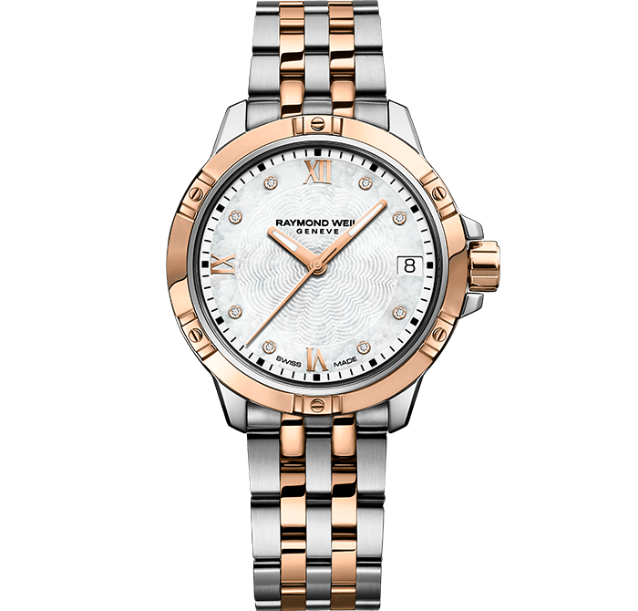 RAYMOND WEIL Tango classic ladies two-tone stainless steel rose gold bracelet watch