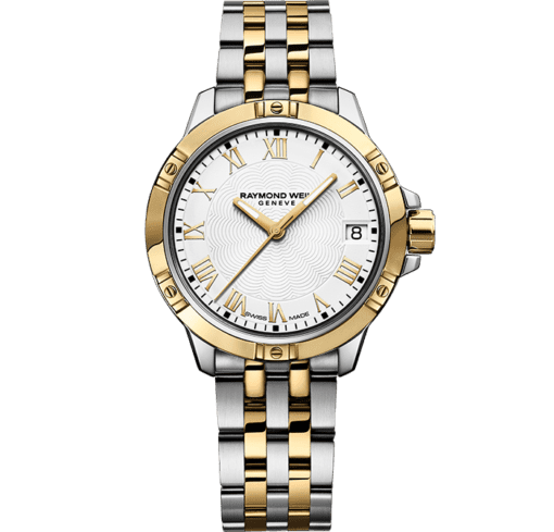 RAYMOND WEIL tango classic ladies two-tone gold steel bracelet watch