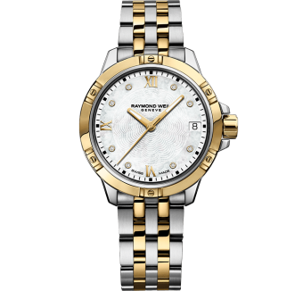 RAYMOND WEIL Tango classic ladies two-tone stainless steel yellow gold bracelet watch