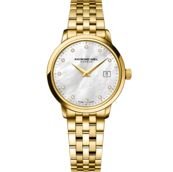 RAYMOND WEIL toccata 5988-p-97081 women's classic gold quartz watch