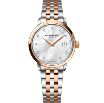RAYMOND WEIL toccata ladies in 29mm rose gold 11 diamond quartz watch
