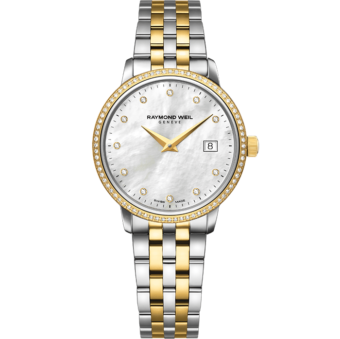 RAYMOND WEIL toccata ladies 91 diamond quartz steel watch