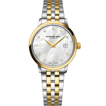 RAYMOND WEIL toccata ladies two-tone gold 11 diamond quartz watch