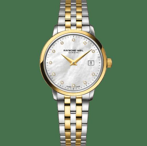 RAYMOND WEIL 托卡塔系列女士系列双色调金色 11 钻石英腕表