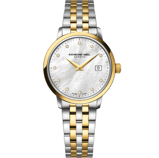 RAYMOND WEIL toccata ladies two-tone gold 11 diamond quartz watch
