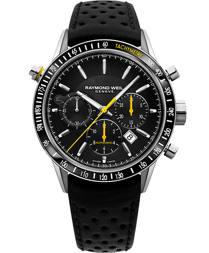 Freelancer - 7740 Black Automatic Chronograph Watch - RAYMOND WEIL