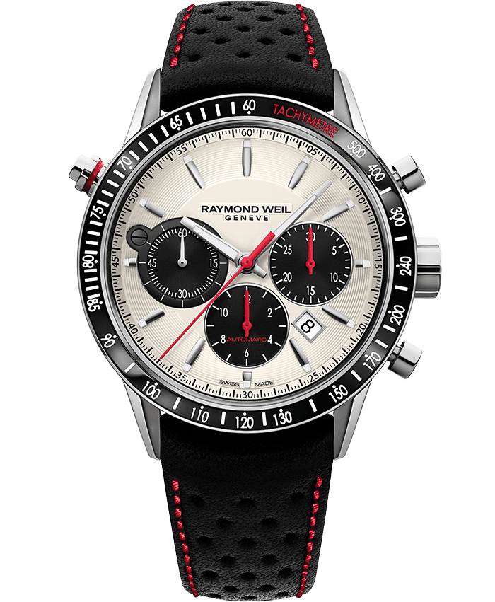 Freelancer - Men's Red Automatic Chronograph Watch - RAYMOND WEIL