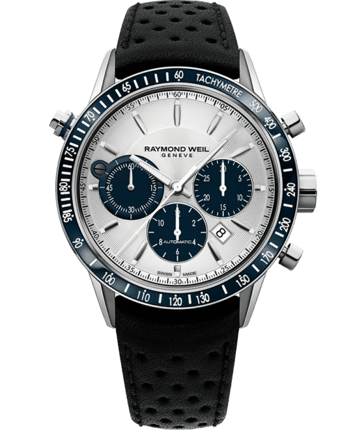 Freelancer - 7740 Silver Automatic Chronograph Watch - RAYMOND WEIL
