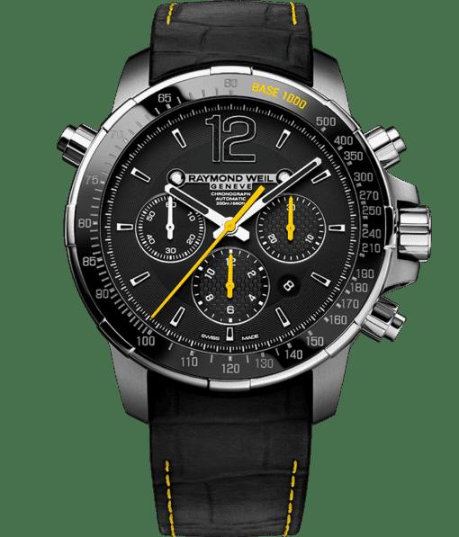 Nabucco - Men's Black and Yellow Chronograph Watch - RAYMOND WEIL
