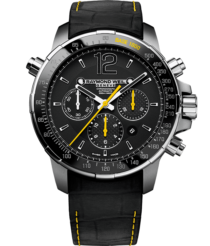 Nabucco - Men's Black and Yellow Chronograph Watch - RAYMOND WEIL