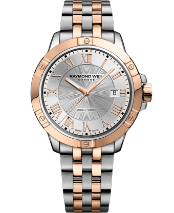RAYMOND WEIL tango two-tone rose gold steel bracelet watch