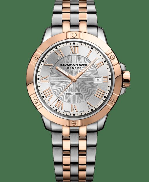RAYMOND WEIL tango two-tone rose gold steel bracelet watch